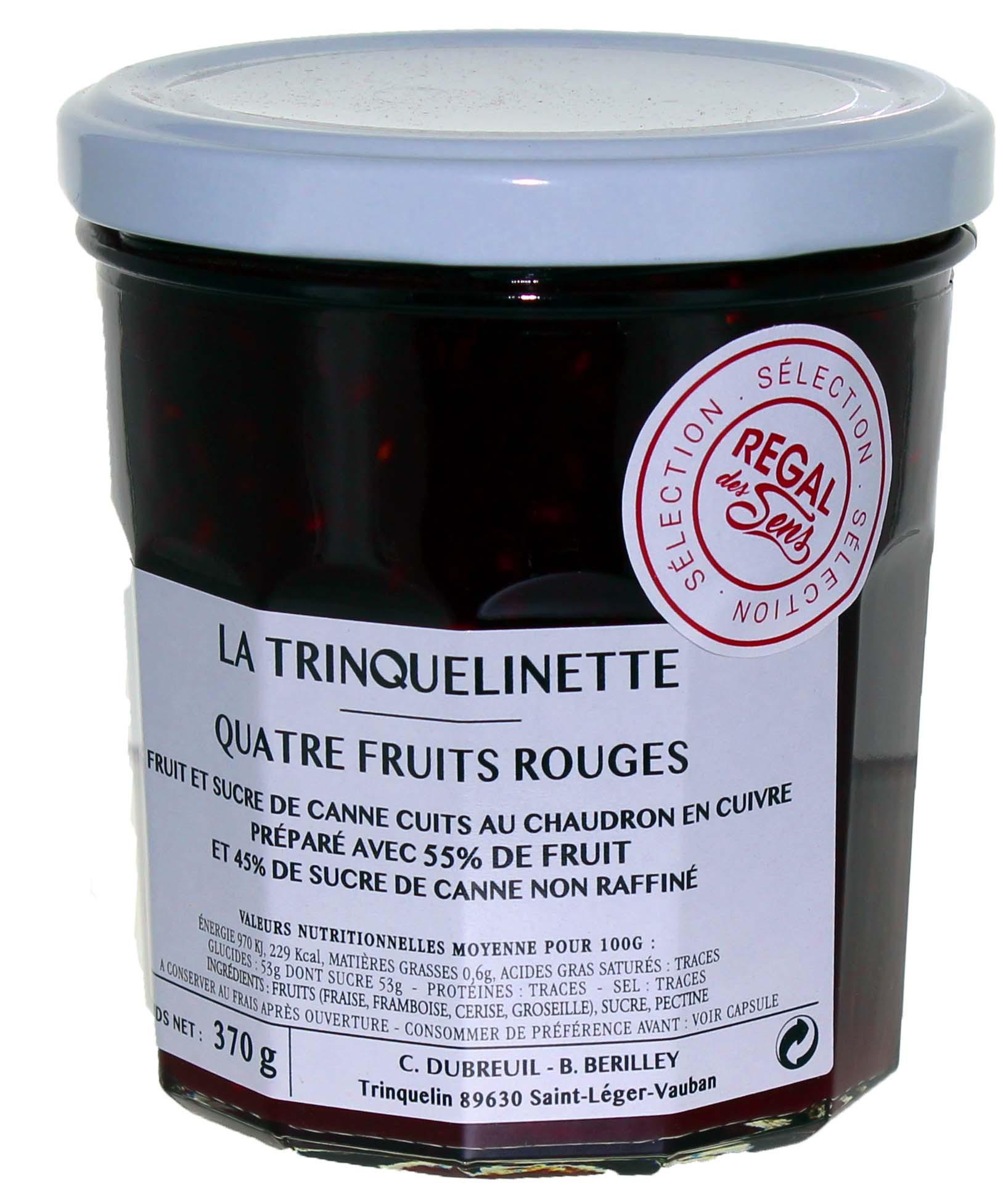 4 fruits rouges - La trinquelinette