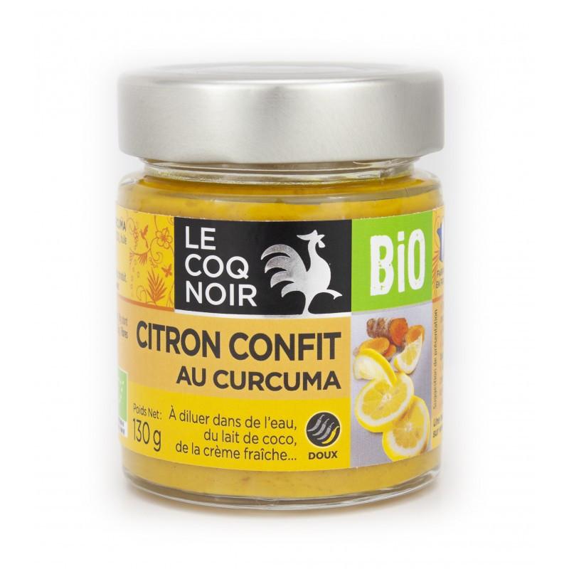 Citron confit au curcuma - Bio