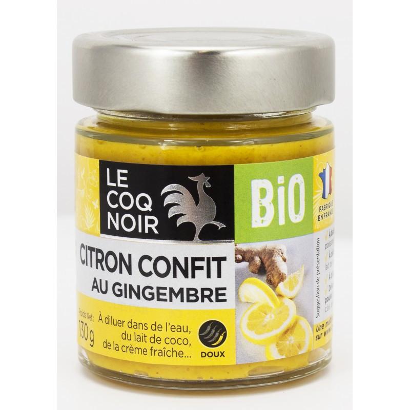 Citron confit au gingembre - Bio