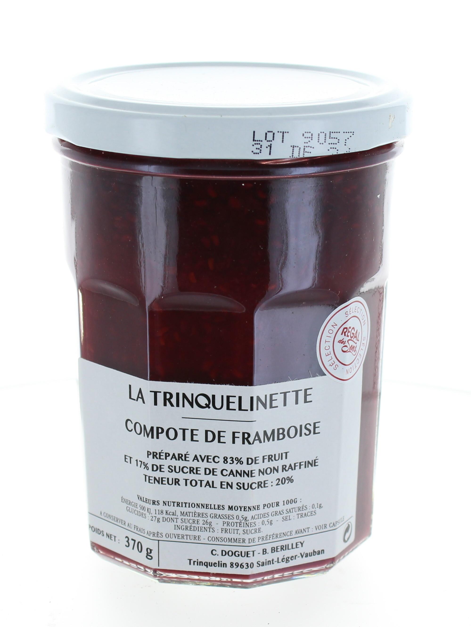 Compote de Framboise - La trinquelinette
