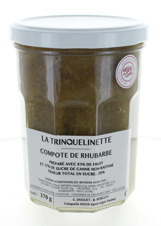 Compote de Rhubarbe - La trinquelinette