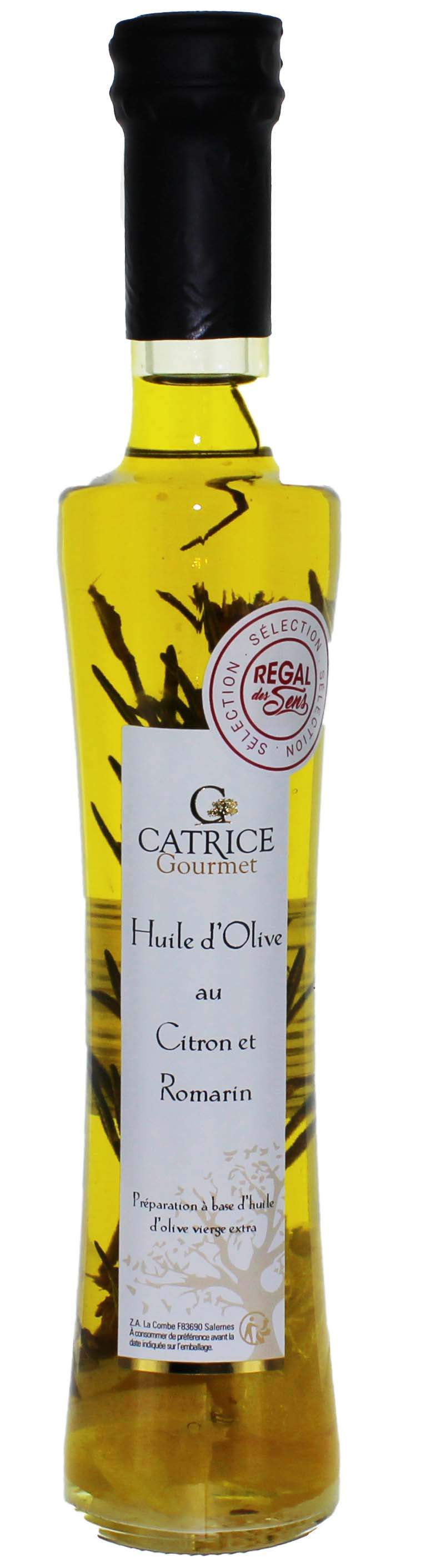 Huile d'olive au Citron et Romarin - Regal des Sens