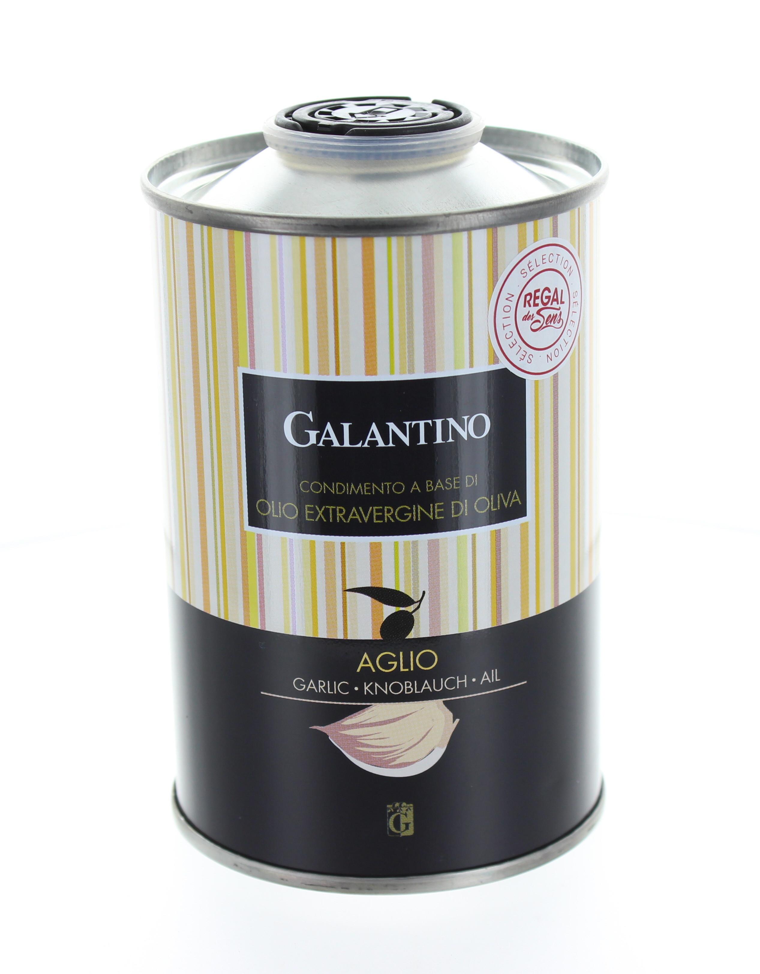 Huile d'olive extra vierge à l'ail - Regal des Sens