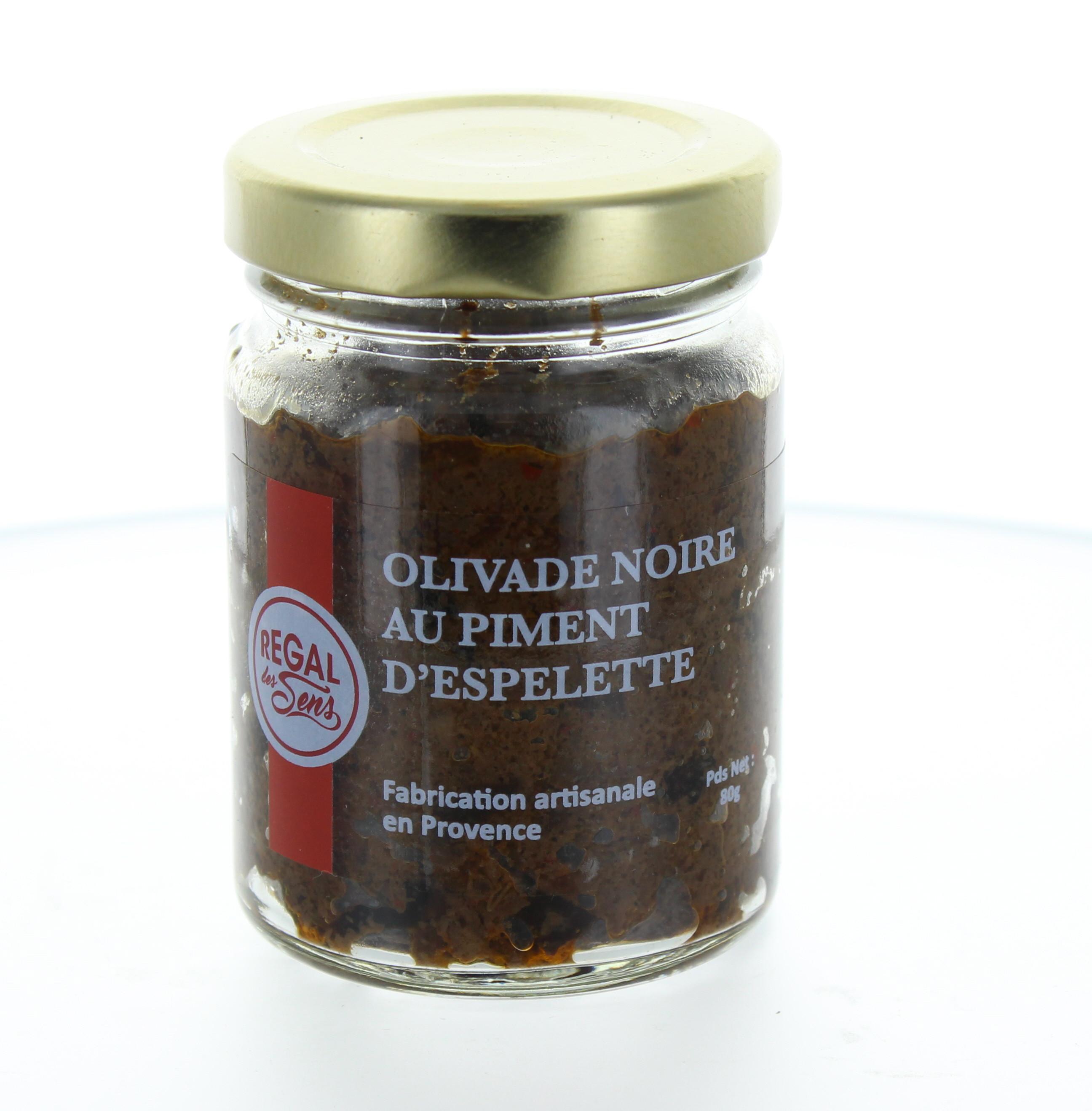 Olivade noire au piment d'Espelette - Regal des Sens