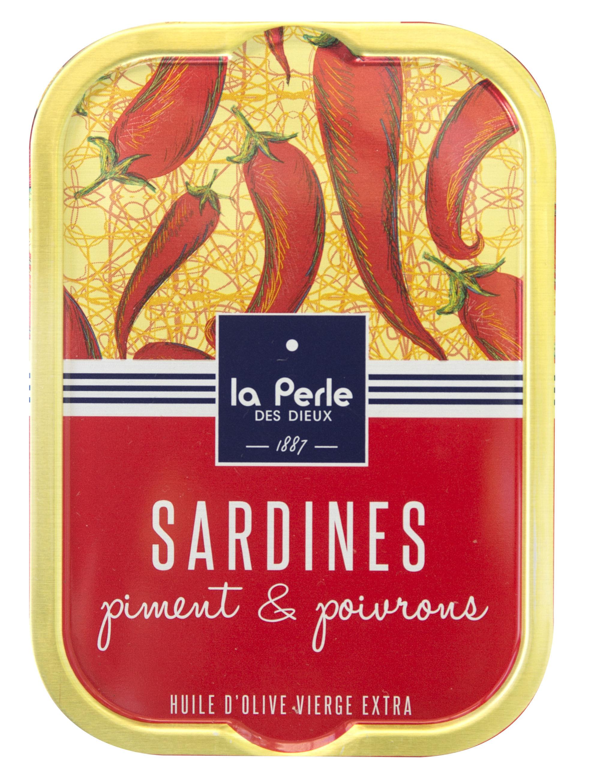 Sardines huile d'olive vierge extra et piment - La perle des dieux