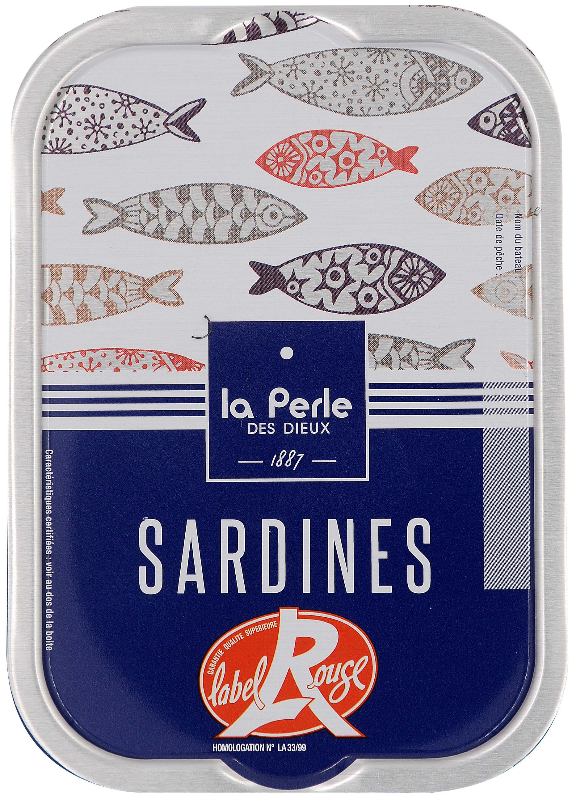 Sardines Label Rouge - La perle des Dieux