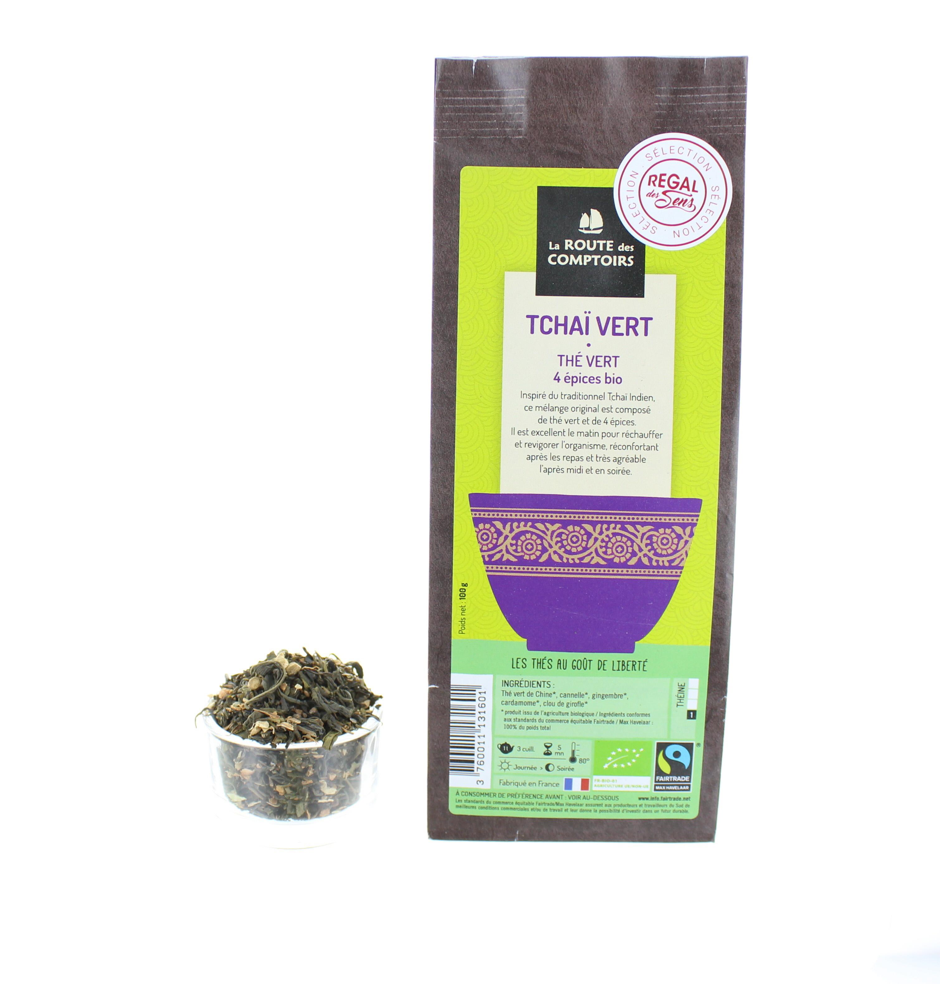 Thé tchaï vert - Bio