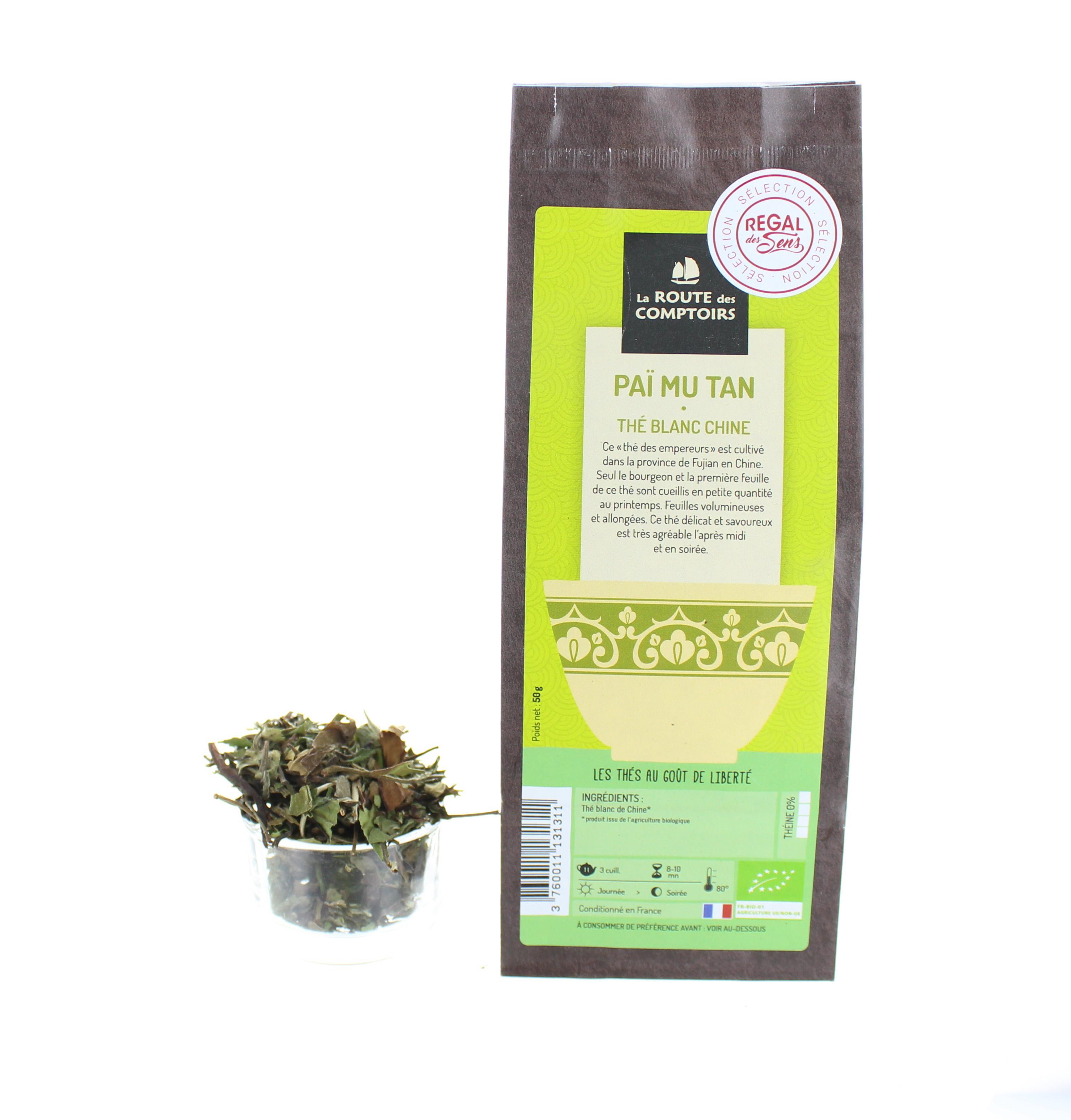 Thé blanc Paï  Mu Tan - Bio