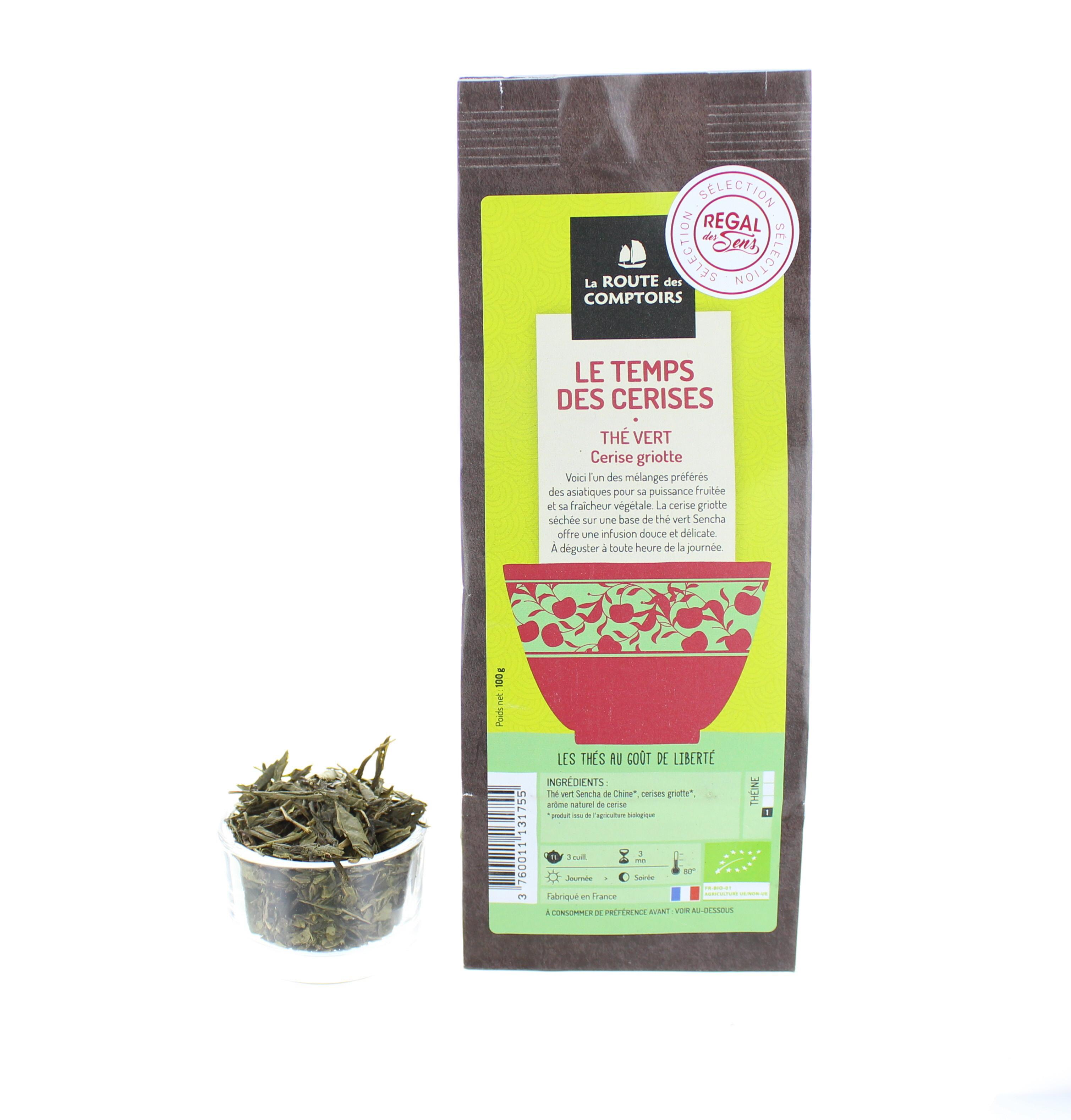 Thé vert Le temps des cerises - Bio