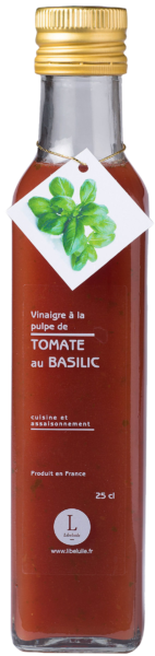 Vinaigre à la pulpe de tomate- Basilic -  Regal des Sens