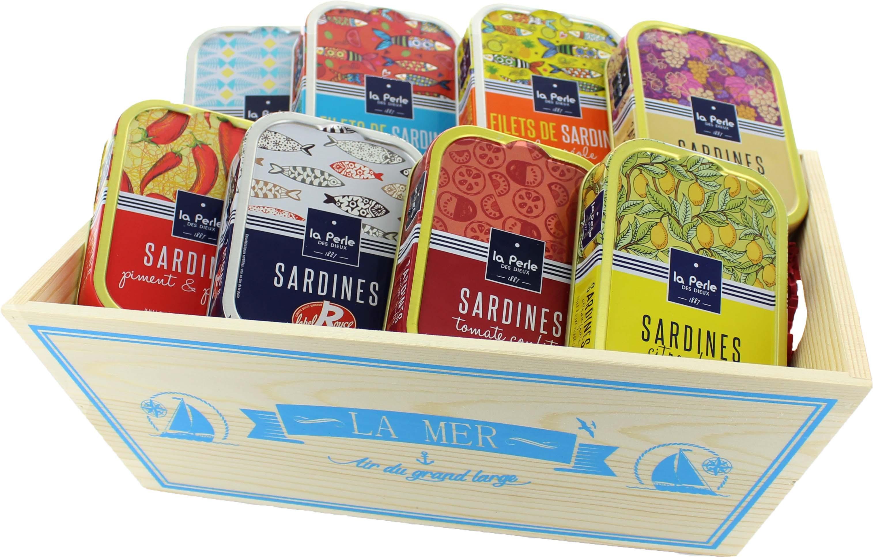 """Coffret cadeau gourmand Coffret cadeau gourmand """"Un amour de sardines""""- Regal des Sens"""