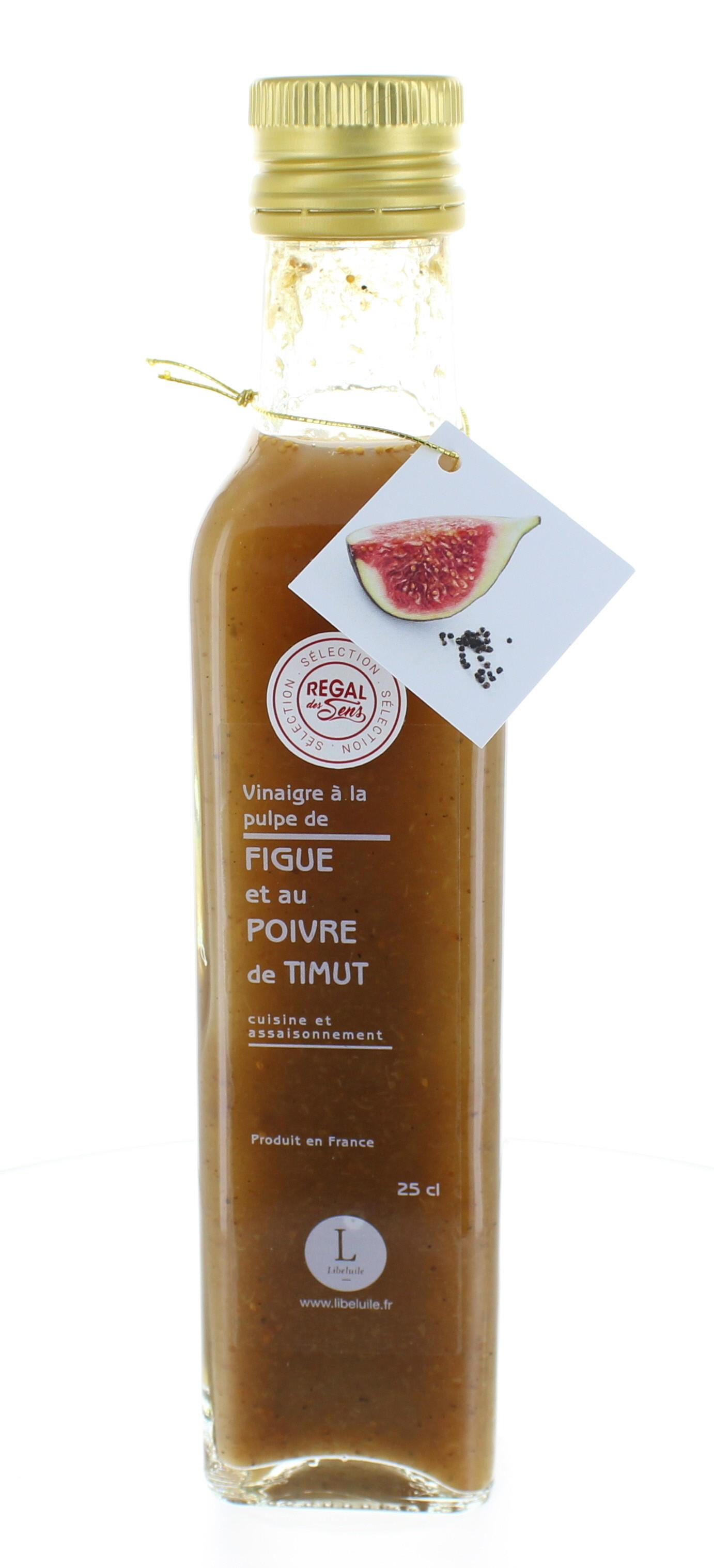Vinaigre à la pulpe de figue et au poivre de Timut