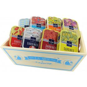 """Coffret cadeau gourmand """"Un amour de sardines"""""""